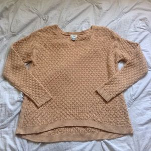 Old Navy Fisherman Knit Tan Pullover Sweater